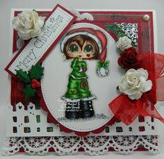 Merry Christmas Handmade OOAK Card by thehoosierstamper, $14.95 USD