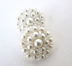 Vintage pulsante Off White Pearl seme perline Abiti da sposa cucito codolo 32mm but0222 (2)
