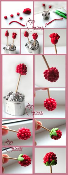 Making raspberries - For all your cake decorating supplies, please visit craftcompany.co.uk