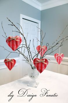 Winter+Branches+with+Plaid+Heart+Ornaments