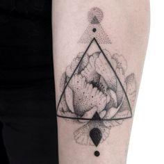 dotwork tattoos flower - Google Search