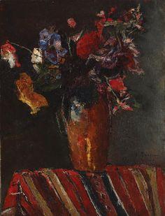 Gheorghe Petrașcu - Flori de câmp. True Art, Impressionism, Still Life, 1 Mai, Flower Paintings, Painters, Dutch, Abstract, Paintings Of Flowers