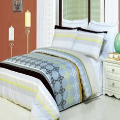 """Luxurious 8 Piece Cal King Size South Gate Printed BED IN A BAG Set. IncludesDuvet CoverSet + 100% Egyptian Cotton Bed Sheet Set + DownAlternativeComforter by Egyptian Cotton Factory Outlet Store. $199.99. Includes 100% Egyptian Cotton White 4pc Sheet Set + Luxurious White Down Alternative Comforter. The 8 Piece Set is combination of Gray, Black and Green. 2 King Pillow Shams (20"""" x 36""""). The 3 Piece Duvet Cover Set is made of 100% Egyptian Cotton. One Duv..."""