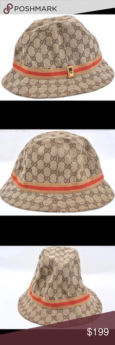 """Authentic Gucci Bucket Hat Large Used and in very good condition. This is a  Gucci bucket hat in a size large. Interior measures about 21.5"""". 481817c435f8"""