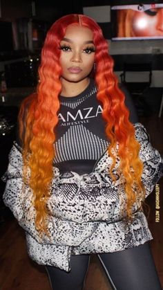 Long human hair colorful human hair wig - All For Hair Color Trending Dope Hairstyles, Black Girls Hairstyles, Pretty Hairstyles, Braided Hairstyles, Hair Color For Black Hair, Love Hair, Gorgeous Hair, Human Hair Color, Human Hair Lace Wigs