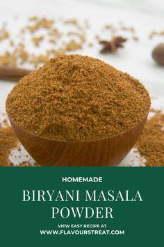Homemade Spice Blends, Homemade Spices, Spice Mixes, Masala Powder Recipe, Masala Recipe, Briyani Recipe, Aloo Curry, Taco Seasoning, Biryani