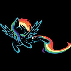 Rainbow Dash spam for #ink_spill_art !