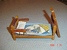 Doll House Furniture - Bed and Ladder - I have many sets and single pieces in doll house furniture. Just click the photo and then do a search to find them all. All priced below collector value and they will be mailed and not shipped UPS to save you money unless you combine several listings in one purchase.