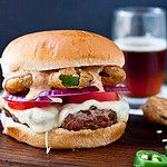 The Firecracker Burger with Friend Jalapenos and Chipotle Ranch Recipe