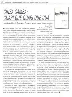 #poesía #GinzaSamba @Vaso_Roto #RobertPinsky #LAAmbroggio @driucatalan #RomeroBarea #reseña para @Quimerarevista