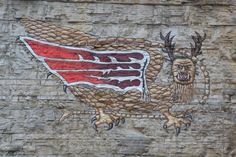 The Piasa Bird continues to be a legend along the Mississippi River bluffs near Alton.      Alton Township Supervisor and a local histor