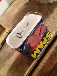 Back in the day when you had to use a key to open a can of Spam :)