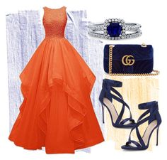 """""""ORANGE"""" by linaila-stor ❤ liked on Polyvore featuring BERRICLE, Gucci, Imagine by Vince Camuto, orangeoutfit and popsoforange"""