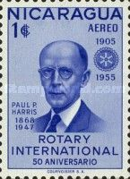 [Airmail - The 50th Anniversary of Rotary International, tipo SE] - 1955