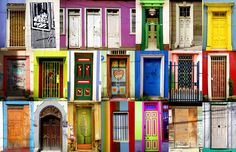 Colorful Doors of Valparaiso, Chile