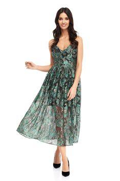 Sukienka Cadenza w kolorze zielonym
