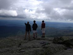 Each fall, at the opening of school, each class hikes to the summit of a different mountain in Vermont.  Here are some of the Vermont Commons juniors (class of '15) on the top of Camel's Hump