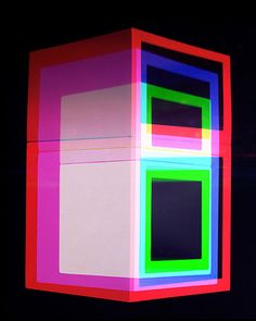 "Jessica Eaton's series, ""Cubes for Albers and LeWitt"" may be highly technical and conceptual, but the end result is dizzyingly beautiful. Based on Joseph Albers' focus on th… Joseph Albers, Multiple Exposure, Oldschool, High Pictures, Neon Glow, Abstract Images, Abstract Art, Inspirational Videos, Colour Images"