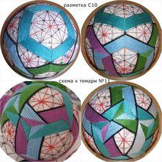 Temari Patterns, Folk Art, Japanese, Album, Embroidery, Inspiration, Stitches, Archive, Balls