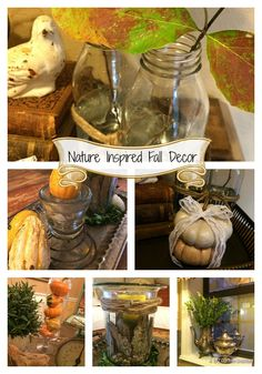 Almost Free Nature Inspired Fall Decor