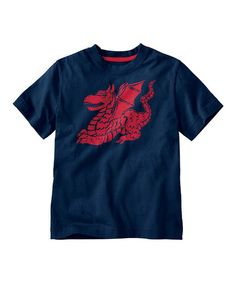 Navy Dragon We're Talking Tee by Hanna Andersson