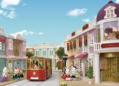 Sylvanian Families 6022 Grand Department Store Gift Playset, New Town Series – MagicToyStore Sylvanian Families, Shop Counter, Girls Series, Christmas Toys, Department Store, Beautiful Homes, Taj Mahal, Entrance, House Styles