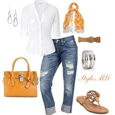"""Orange Blossom"" by romigr99 on Polyvore"