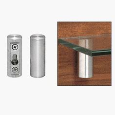 """CRL 13/16"""" Diameter UV Bond Wall Mount Shelf Bracket by C.R. Laurence. $30.00. Available in Two Sizes CRL's UV stainless steel Wall Mount Brackets are intended to be installed into concrete, brick, stone or wall studs. These uniquely designed wall brackets will hold glass shelving to hold books, collectibles, speakers, etc. These 2-1/2 inch (63.5 millimeter) Tall Brackets are available in two diameters. Minimum order is one each."""