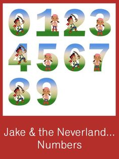 Jake & the Neverland Pirates Numbers - FREE PDF Download