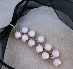 Pink Stardust Necklace Softly Pink Stardust by JewelryArtistry