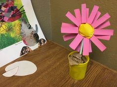 flower made from scrap paper items