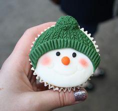 cute winter cupcake