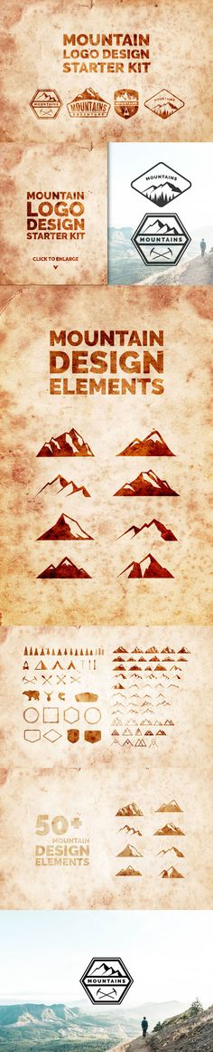 #Freebies : 50 #FREE #vector #mountain #designs as well as a number of other #illustrations including #trees, tents, #outdoor gear, and #animals, perfect for outdoor-adventure projects relating to outdoor recreation themes including #hiking, #camping, backpacking, #mountaineering, climbing, kayaking, etc.