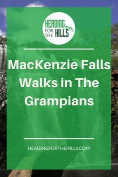 Mackenzie Falls, The Grampians, Australia - two walks