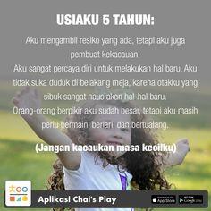 Satu sehari, tips permainan & pengasuhan anak, hanya di Chai's Play Parenting Quotes, Kids And Parenting, Parenting Hacks, Health Education, Kids Education, Newborn Baby Tips, Peaceful Parenting, Stories For Kids, Psychology