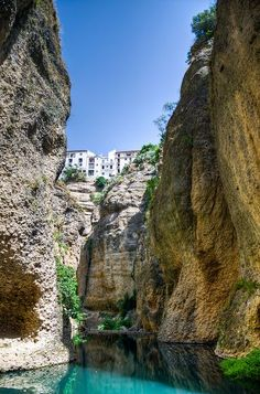 Incredible Shot Of Cliff Side Houses In The City Of Ronda Spain Would You Live Here Awesome