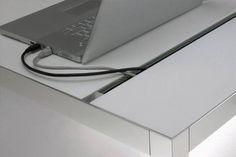 Desk at Hub Furniture Office Setup, Desk Setup, Office Desks, Interior Design Tools, Furniture Design, Cable Tray, Commercial Office Design, Custom Desk, Home Tech