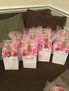 Birthday bags unicorn theme