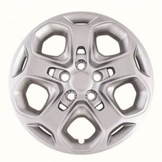 Hubcaps for Ford Fusion Set of 4 Pack Inch Silver Auto Wheel Covers, OEM Genuine Factory Aftermarket Replacement, ABS - Easy Snap On