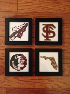 From Vicki's Etsy Shop - FromDixieWithLove: Florida State University  5x5 Framed Paper by FromDixieWithLove, $50.00