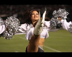Oakland Raiders cheerleader