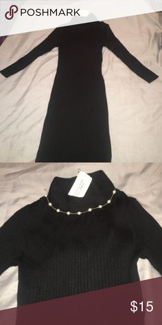 Forever21 Sweater dress Ribbed mock neck sweater dress in size small. NWT. (Does not come with necklace) Forever 21 Dresses Long Sleeve