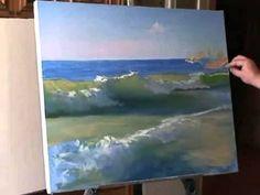 L'artista Igor Sakharov .Video lezione  _ Il mare, trasparente onda .