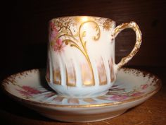 Limoges Demitasse Cup and Saucer.
