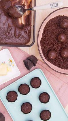 Fun Baking Recipes, Sweet Recipes, Cookie Recipes, Dessert Recipes, Chocolate Candy Recipes, Homemade Chocolate, Easy Desserts, Delicious Desserts, Yummy Food