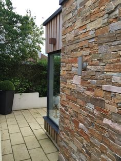 Sandstone wall. Our house extension project in North Lanarkshire