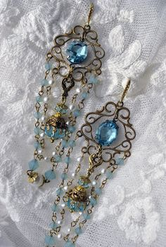 Wedding jewelry  Something Blue  Marie Antoinette