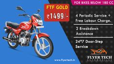 One more from our hood!! 4 services at Rs 1499 with additional discounts and features  🙂 Book our service here: https://goo.gl/BqMYBs #FlyerTech  #BikeService