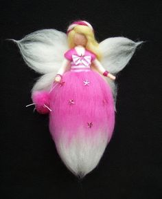 TOOTH FAIRY needle felted wool doll fee angel faeries soft sculpture WALDORF inspired