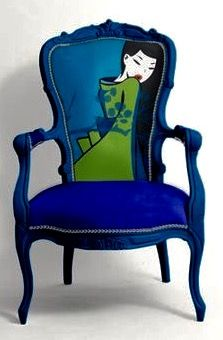 Funky Painted Furniture, Painted Chairs, Colorful Furniture, Unique Furniture, Home Decor Furniture, Furniture Makeover, Furniture Design, Bedroom Furniture, Colorful Chairs